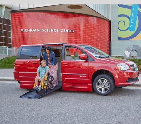 Dodge Grand Caravan - Lowered Floors and Ramps - Designed to Carry